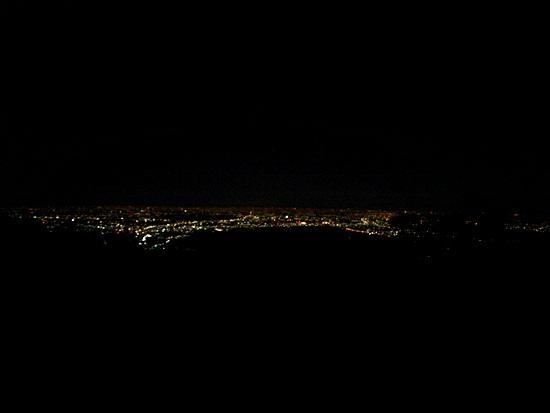 日の出山夜景